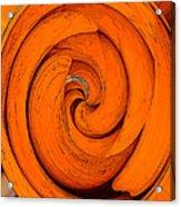 Orange Peal Acrylic Print