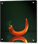 Orange Pepper Acrylic Print