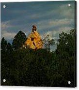 Orange Rock Among The Trees Acrylic Print