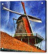 Orange Sails Acrylic Print