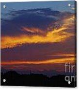 Orange Sky Afternoon Acrylic Print