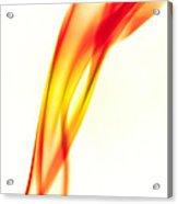 Orange Smoke Abstract On A White Background Acrylic Print