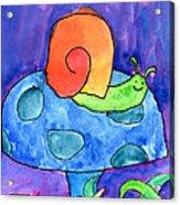 Orange Snail Acrylic Print