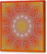 Orange Space Flower Acrylic Print by Hanza Turgul