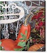 Orange Squash Acrylic Print