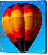 Orange Stipped Hot Air Balloon Acrylic Print