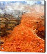 Orange Stones Acrylic Print