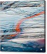 Orange Streak Acrylic Print
