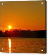 Orange Sunrise Over Dc Acrylic Print
