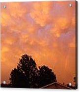 Orange Sunset Acrylic Print