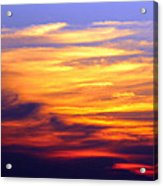 Orange Sunset Sky Acrylic Print