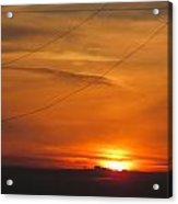 Orange Sunset Acrylic Print