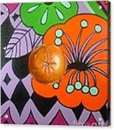 orange Sunshine Acrylic Print by Shelley Laffal