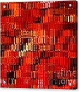Orange Under Glass Abstract Acrylic Print