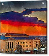 Orange Upon The Art Museum Acrylic Print