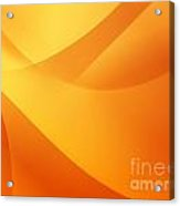 Orange Wallpaper Acrylic Print