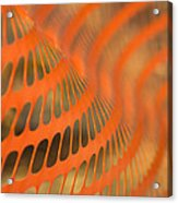 Orange Wave Acrylic Print