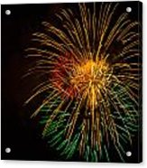 Orange Yellow Green Fireworks Galveston Acrylic Print