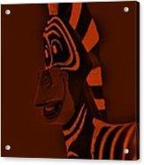 Orange Zebra Acrylic Print