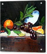 Oranges And Grapes Acrylic Print