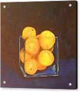 Oranges In A Square Vase Acrylic Print