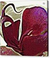 Orchid Facing Up Acrylic Print