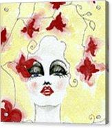 Orchid Lady Acrylic Print