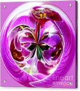 Orchid Orb I Acrylic Print