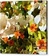 Orchids And Hydrangea Acrylic Print