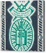 Order Of The 20th Anniversary Release 17 November 1940 To 1960 Patriam Servando Victoriam Tulit Acrylic Print