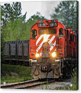 Red Ore Train On A Curve Near Bathurst Acrylic Print