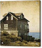 Oregon Coast Beach House Acrylic Print
