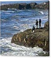 Oregon Coast Fishermen Acrylic Print