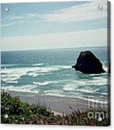 Oregon Coast Ghost Surfer Acrylic Print