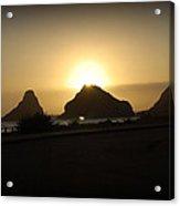 Oregon Coastal Sunset II Acrylic Print