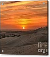 Oregon Dunes Sunset Acrylic Print