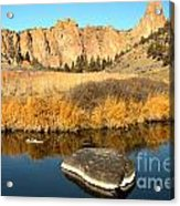 Oregon River Rock Reflections Acrylic Print