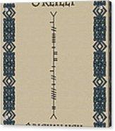 O'reilly Written In Ogham Acrylic Print