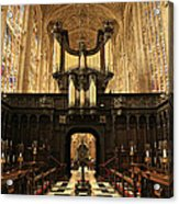 Organ And Choir - King's College Chapel Acrylic Print