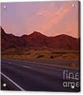 Organ Mountain Sunrise Highway Acrylic Print