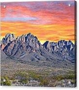 Organ Mountain Sunrise Most Viewed  Acrylic Print