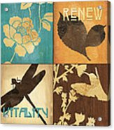 Organic Nature 4 Acrylic Print by Debbie DeWitt