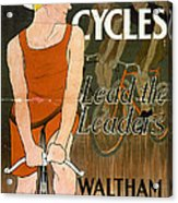 Orient Cycles Vintage Bicycle Poster Acrylic Print