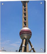 Oriental Pearl Tv Tower, Pudong Acrylic Print