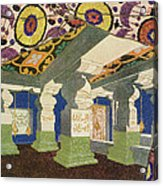 Oriental Scenery Design Acrylic Print