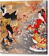 Oriental Triptych Acrylic Print