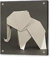 Origami Elephant Acrylic Print