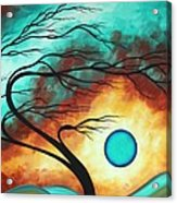 Original Bold Colorful Abstract Landscape Painting Family Joy I By Madart Acrylic Print