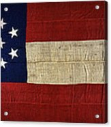 Original Stars And Bars Confederate Civil War Flag Acrylic Print by Daniel Hagerman