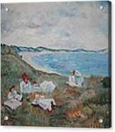 Original Copy By Karen Gilmore Of William Merrit Chase's Idle Hours Acrylic Print